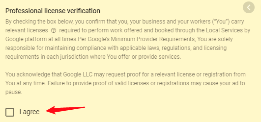 Accept Local Service License