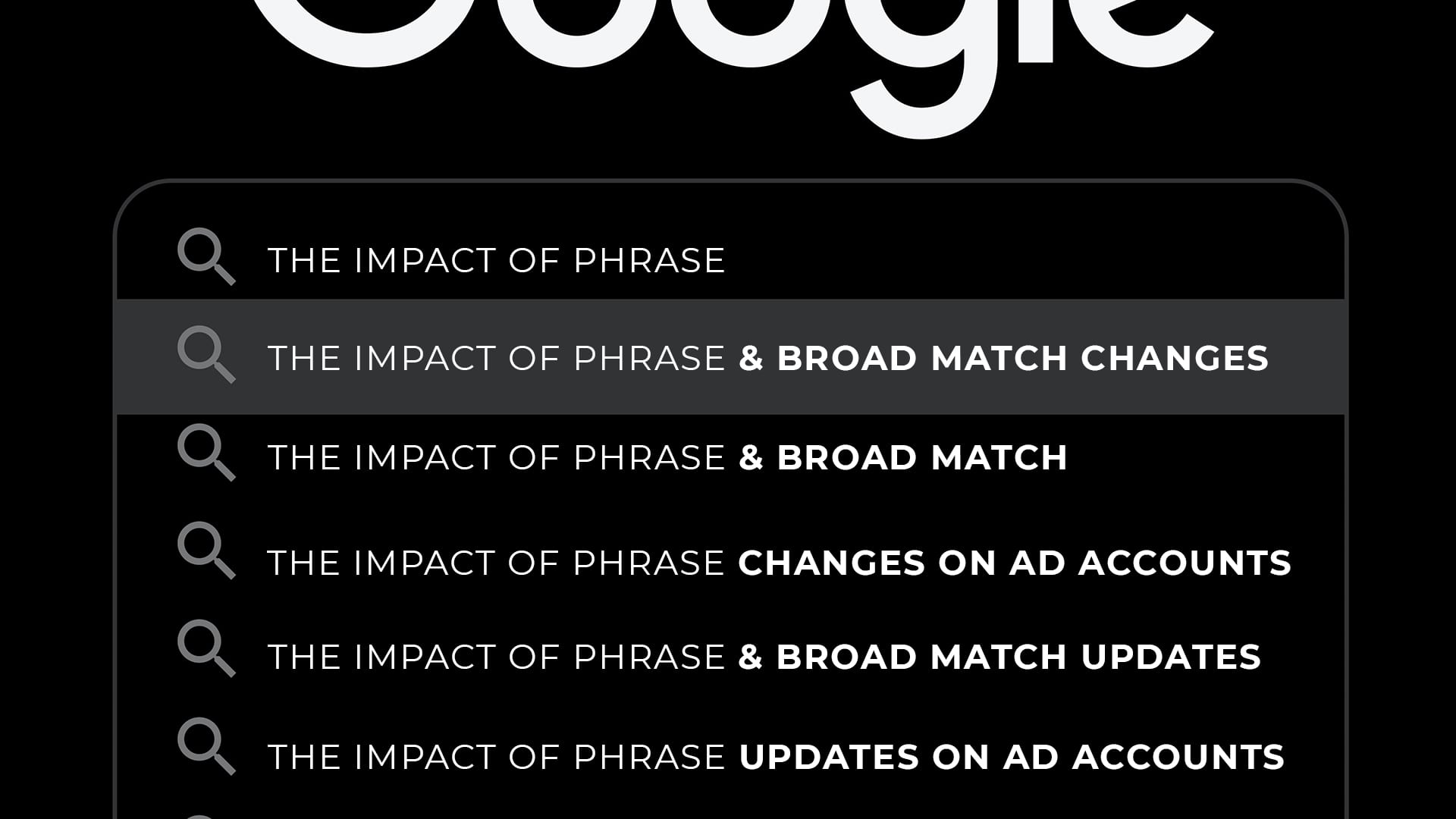 phrase and broad match modifiers