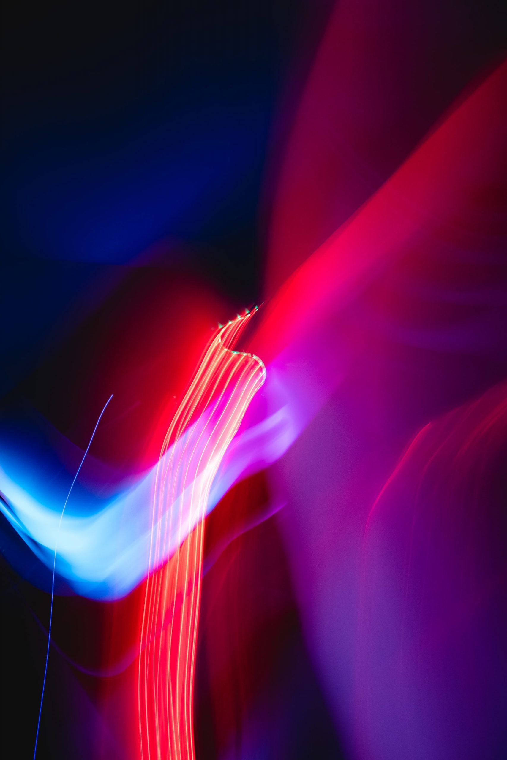 abstract pink, purple, and blue light